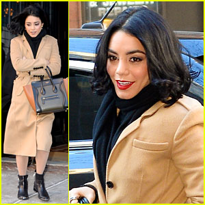 Vanessa Hudgens Cuddles Up to 'HSM' Cast Mates in New 10th Anniversary Promo