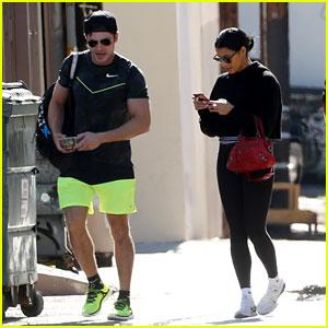 Zac Efron & Girlfriend Sami Miro Hit the Gym Together
