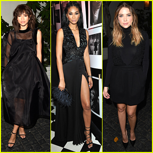 Chanel Iman & Zendaya Keep It Classic In Black for Dom Perignon/W's Golden Globe's Party