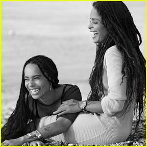 Zoë Kravitz & Mom Lisa Bonet Star in New Calvin Klein Ads