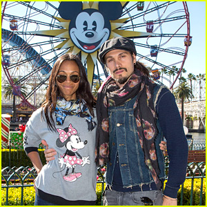 Zoe Saldana Celebrates New Year's Eve at Disneyland!