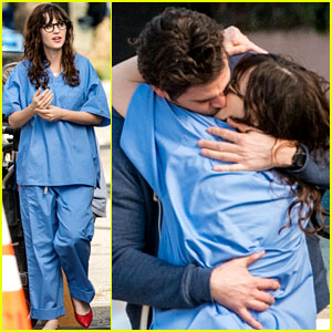 Zooey Deschanel Makes Out with David Walton for 'New Girl'