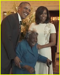 106-Year-Old Woman Dances for Joy at The White House