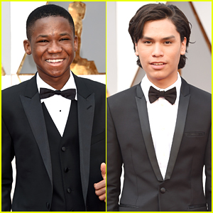 Abraham Attah & Forrest Goodluck Suit Up For Oscars 2016 Red Carpet