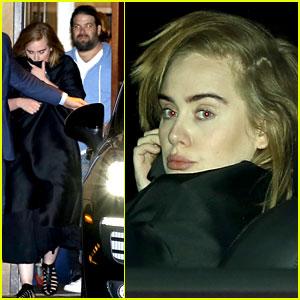 Adele & Boyfriend Simon Konecki Grab Dinner in Malibu