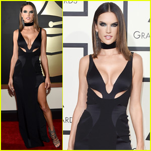 Alessandra Ambrosio is a 'Rock Chick' at the Grammys 2016