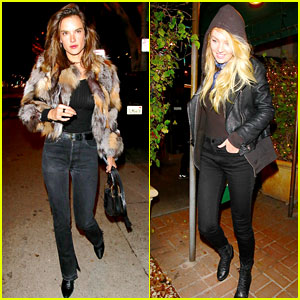 Alessandra Ambrosio & Candice Swanepoel Have an Angels Night Out!