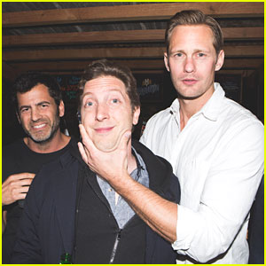 Alexander Skarsgard Hangs with Friends at 'Unemployed' Party