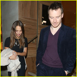 Alicia Vikander & Michael Fassbender Attend Pre-BAFTAs Dinner