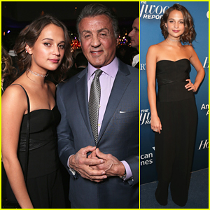 Alicia Vikander & Sylvester Stallone Live It Up At THR's Nominees Night Party!