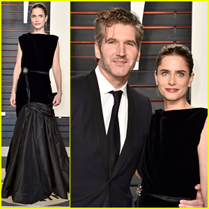 Amanda Peet & David Benioff Attend Vanity Fair Oscars Party 2016