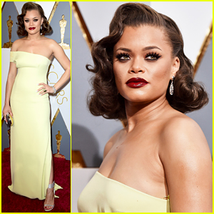 Andra Day Oozes Retro Glamour at Oscars 2016