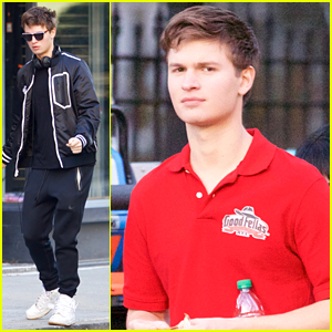 Ansel Elgort Is A Pizza Delivery Guy For 'Baby Driver' Film