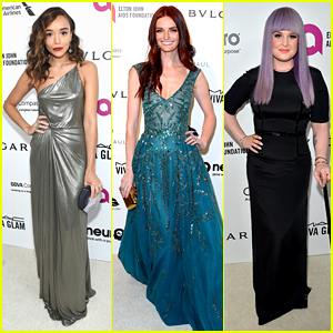 Ashley Madekwe & Lydia Hearst Are a Colorful Bunch at EJAF Oscars Viewing Party