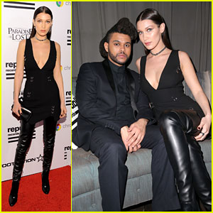 Bella Hadid & The Weeknd Cuddle Up at 2016 Grammys After Party