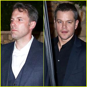 Ben Affleck Hangs Out with Matt Damon at Pre-Oscar Party