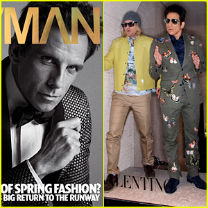 Ben Stiller Covers 'V Man,' Models as Zoolander in Valentino Store Window with Owen Wilson's Hansel!