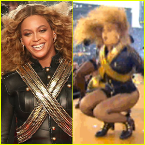beyonce knowles fall becomes hilarious bounce meme beyonce's super bowl 2016 fall recovery becomes hilarious bounce gif