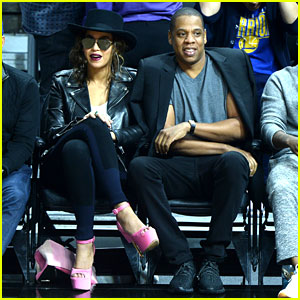 Beyonce Rocks Bubblegum Pink Shoes at Clippers Game With Jay Z