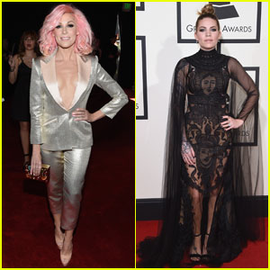 Bonnie McKee & Skylar Grey Get Dolled Up for Grammys 2016