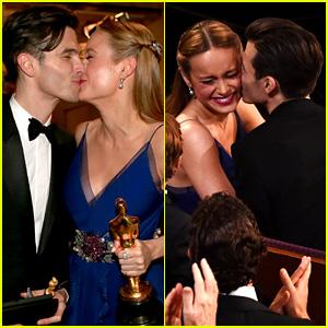 Brie Larson Kisses Boyfriend Alex Greenwald Backstage at Oscars 2016