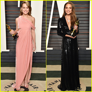 Brie Larson & Alicia Vikander Celebrate Their Big Wins At Vanity Fair Oscar Party 2016!