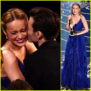 Brie Larson Thanks Boyfriend Alex Greenwald at Oscars 2016
