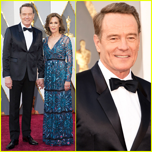 Bryan Cranston Poses With Wife Robin on Oscars 2016 Carpet!