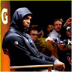 Cam Newton Walks Out During Post-Super Bowl Press Conference (Video)