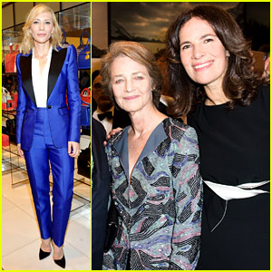 Cate Blanchett & Charlotte Rampling Attend Armani's Pre-Oscar Party!