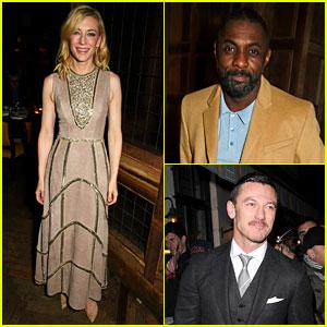 Cate Blanchett & Idris Elba Dine with Harvey Weinstein Before the BAFTAs