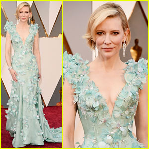 Cate Blanchett Stuns in Feathered Gown at Oscars 2016