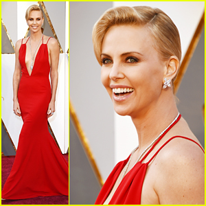 Charlize Theron is a Vision in Red at Oscars 2016
