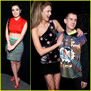 Charli XCX & Karlie Kloss Go Colorful For Jeremy Scott NYFW 2016 Show