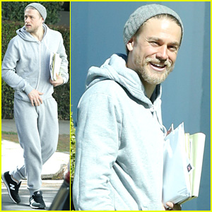 Charlie Hunnam Shows Off His Scruff Before a Business Meeting