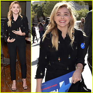 Chloe Moretz Rallies for Hillary Clinton in Nevada!
