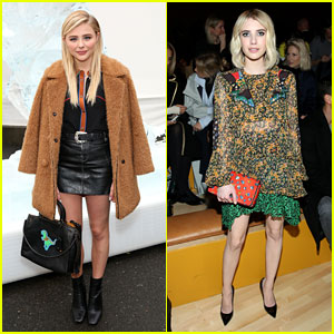 Chloe Moretz & Emma Roberts Sit Front Row at Coach NYFW 2016 Show