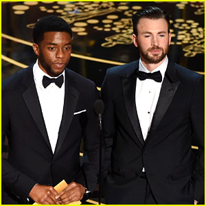 Marvel Studs Chris Evans & Chadwick Boseman Present at Oscars 2016!