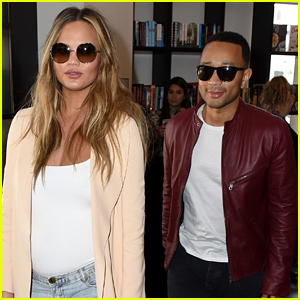 Chrissy Teigen & John Legend Couple Up for 'Cravings' Miami Signing