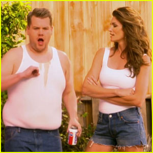 Cindy Crawford Recreates Pepsi Commercial with James Corden (Video)
