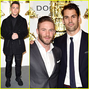 Colton Haynes & Julian Edelman Help Kick Off NYFWM At CFDA Opening Party!