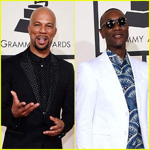 Common & Aloe Blacc Arrive in Style at Grammys 2016