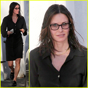 Courteney Cox Runs Errands with Wet Hair in L.A.