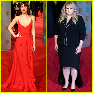 Dakota Johnson Gets Rebel Wilson's Support at BAFTAs 2016!