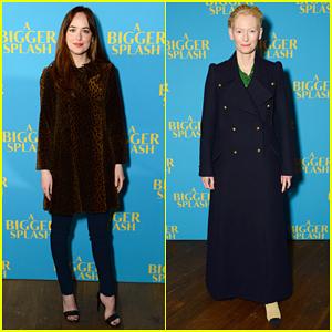 Dakota Johnson & Tilda Swinton Bring 'A Bigger Splash' To London!