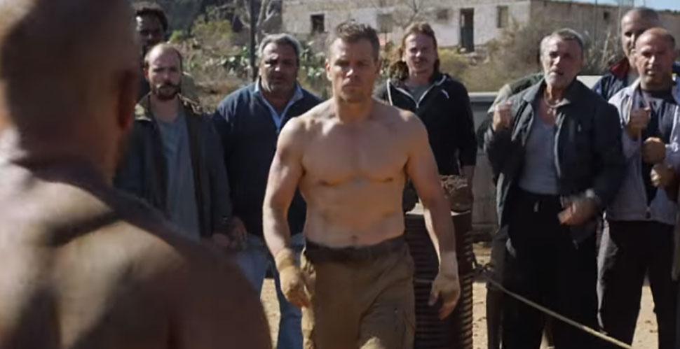 Matt Damon Is Shirtless In Jason Bourne Super Bowl
