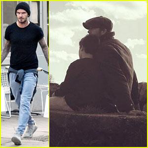 David Beckham Cuddles with Son Cruz in Cute Instagram Photo