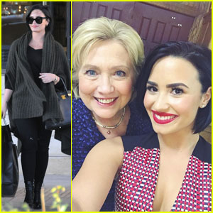 Demi Lovato Poses With Her Favorite Candidate Hillary Clinton