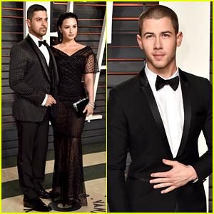 Demi Lovato & Wilmer Valderrama Couple Up at Vanity Fair Oscar Party 2016