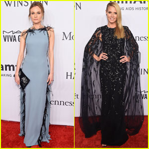 Diane Kruger & Heidi Klum Attend amfAR Gala 2016 in NYC